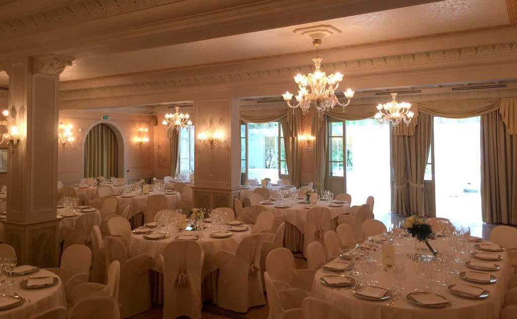 Una stupenda sala per ricevimenti della tenuta La Montina