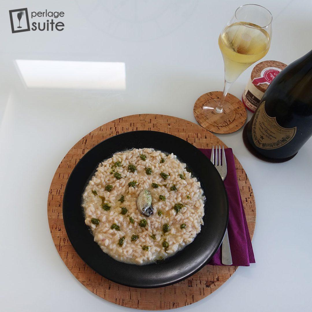 risotto ostriche champagne