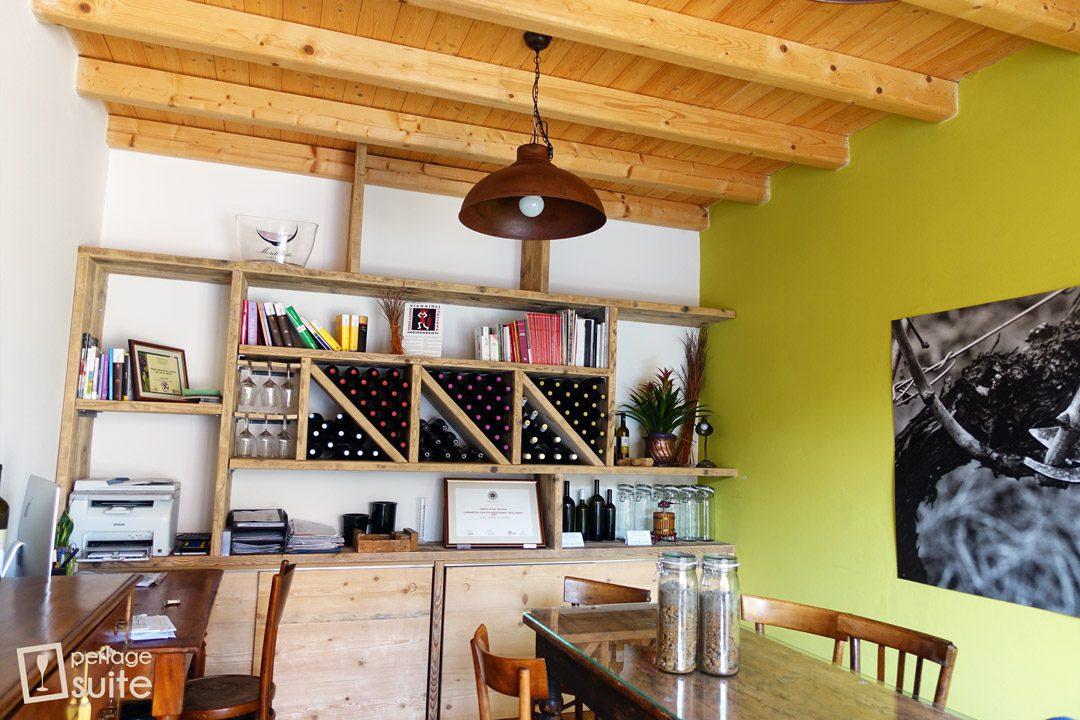 vini biologici lazzari sala degustazione