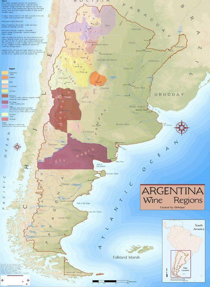 vini argentini zone vitivinicole