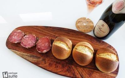 Ricetta della spongada camuna con Salame di Monte Isola e Spumante Metodo Classico Rosé D'Araprì