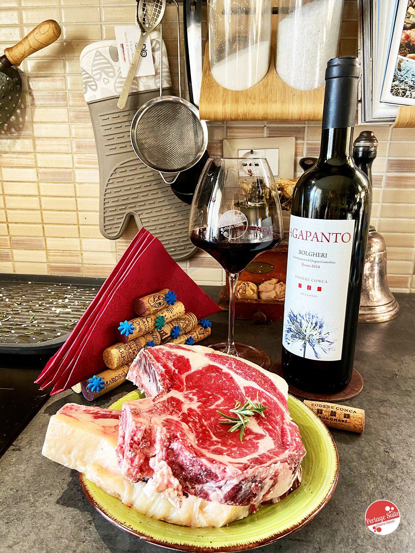 vino rosso bolgheri e fiorentina