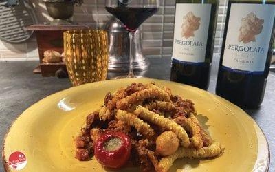 Vino rosso e pesce: Passatelli al sugo di sgombro e sangiovese Caiarossa