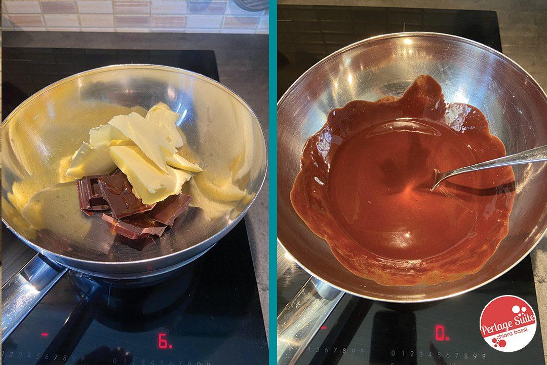 rotolo alla marmellata ricoperto di cioccolato