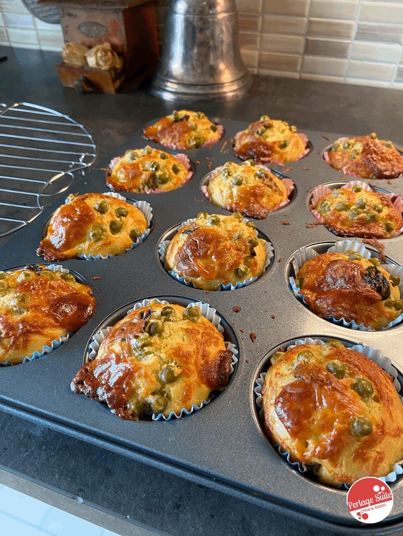 muffin salati pecorino piselli menta ricetta
